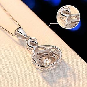 Jewelry - Austrian Crystal Swan Bird Pendant Necklace